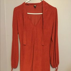 Dresses & Skirts - Red Suede Dress